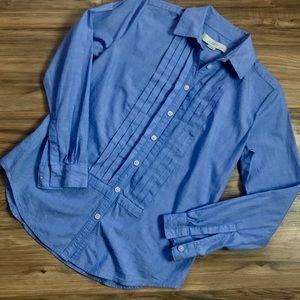 Ann Taylor Loft Tuxedo Style Button Down Blouse